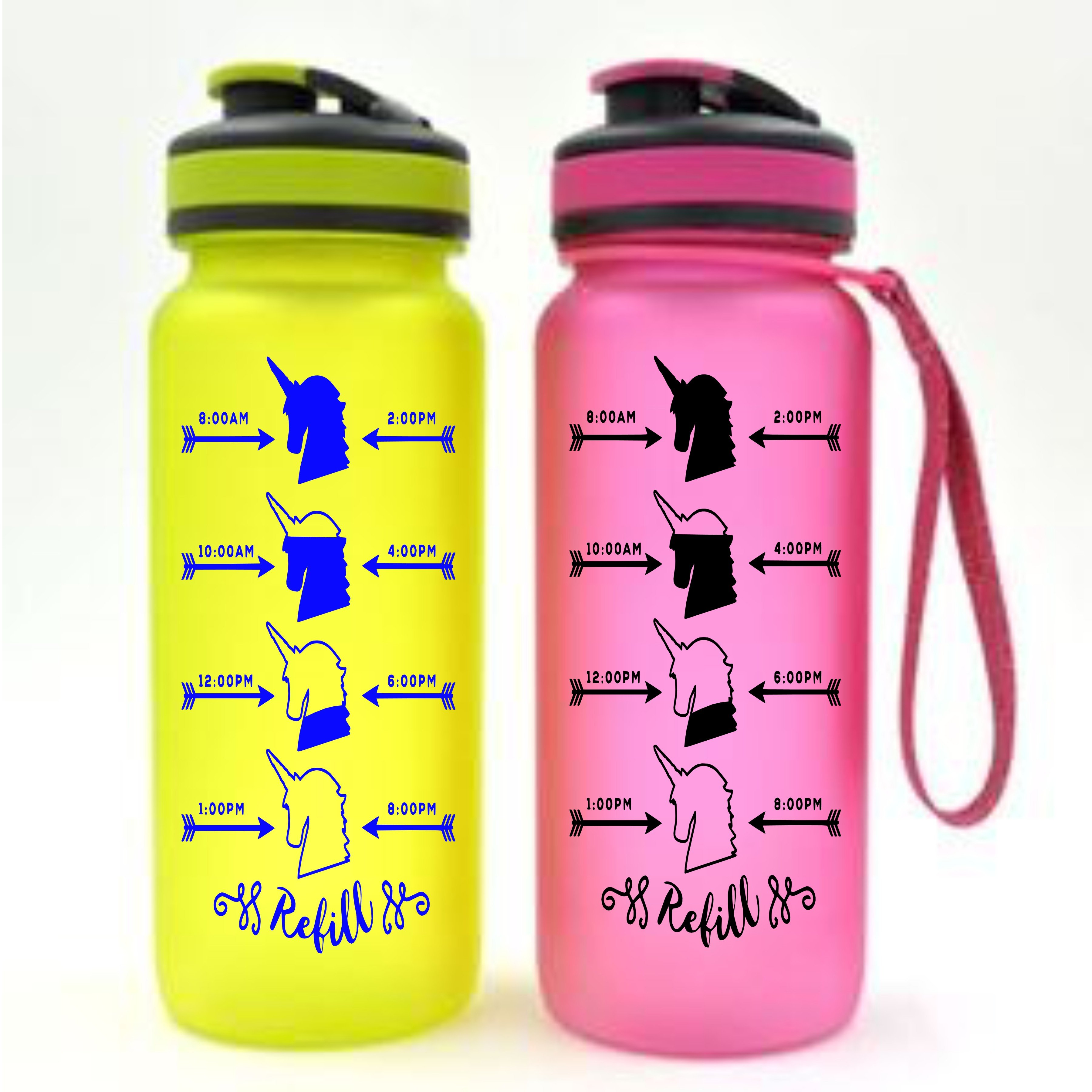 Unicorn water bottle decal hydration label decal unicorn decal water measurement decal custom label custom sticker